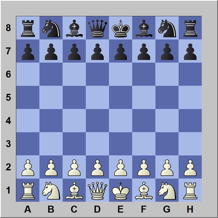 Opstelling schaakbord van schaken