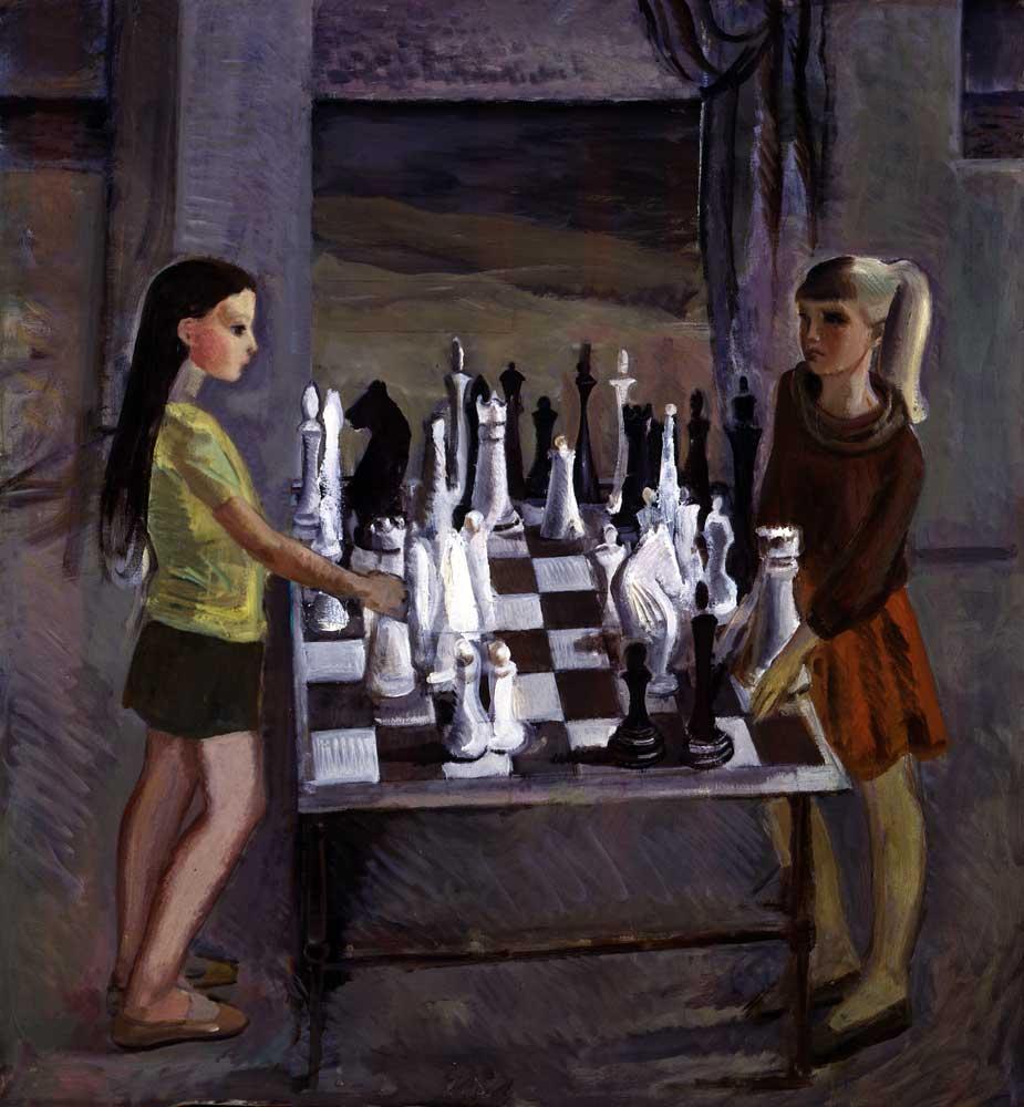 Schaakkunst schilderij